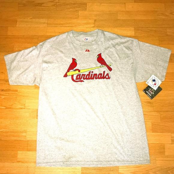 best website 999ac f390e Majestic ST LOUIS CARDINALS baseball shirt men NWT NWT